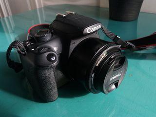 Camara Reflex Canon RebelT5 / 1200D + Yongnuo 50mm
