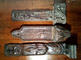 portavelas antiguos madera