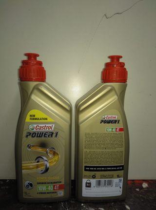Aceite castrol 10W-40 4t