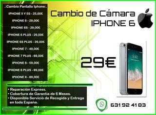 Cambio de Cámara Iphone 6 - Tienda