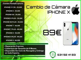 Cambio de Cámara de Iphone X Tienda