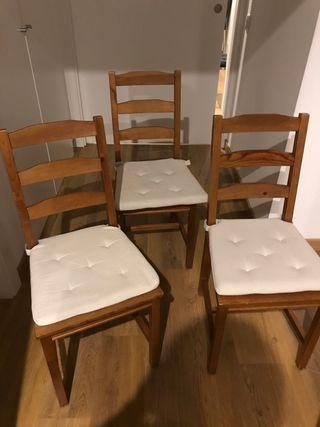 Sillas madera IKEA