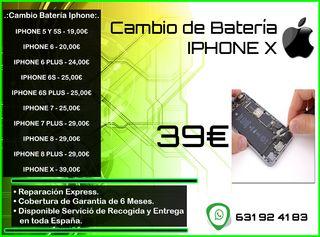 Cambio de Batería Iphone X Tienda