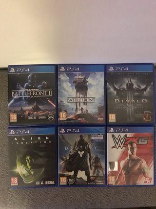 Vendo pack de juegos ps4