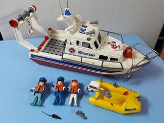 playmobil barco de rescate. lancha