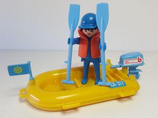 Lancha Zodiac Playmobil Patrulla Pesquera Barca
