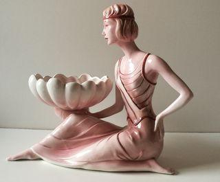Centro de mesa escultura de porcelana Italiana. Da