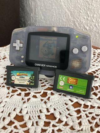Game boy advanced mas 4 juegos
