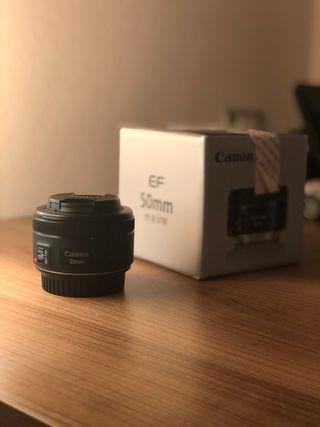 Objetivo Canon 50mm f/1.8 STM lente