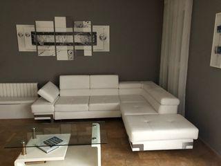 Sofa diseño polipiel blanca