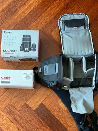 Canon EOS 1000D + objetivos + Lowepro