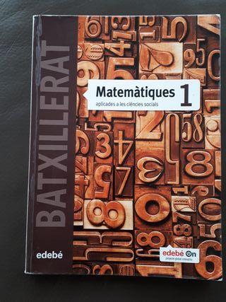 Libro matemáticas 1o bachillerato, Edebé