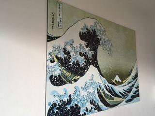 Lamina decorativa Hokusai 139,5x100 estado nuevo