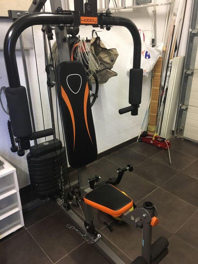 Maquina fitness pesas musculación