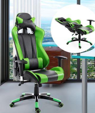 Silla oficina gaming verde NUEVA