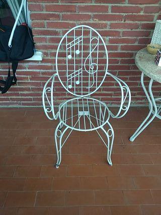 silla de forja vintage