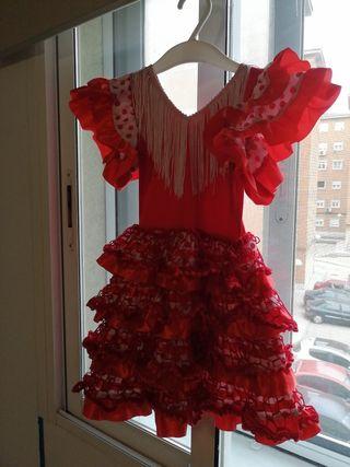 Vestido disfraz de flamenca 12m