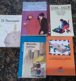 Libros de lectura escolar.
