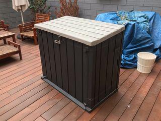 Arcon/Baul/armario jardin/terraza exterior resina