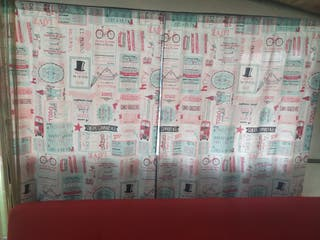 se venden 6 cortinas 90 x 1,40m