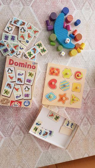 Pack juegos de madera para niños
