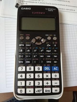 calculadora casio blanca