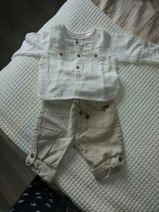 conjunto lino ZARA bebé talla 68 bebé