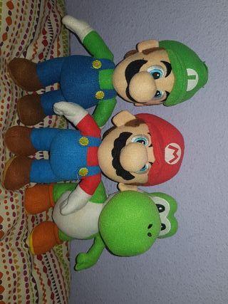 Mini peluches Mario Bros
