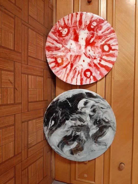 disco de vinilo decorado