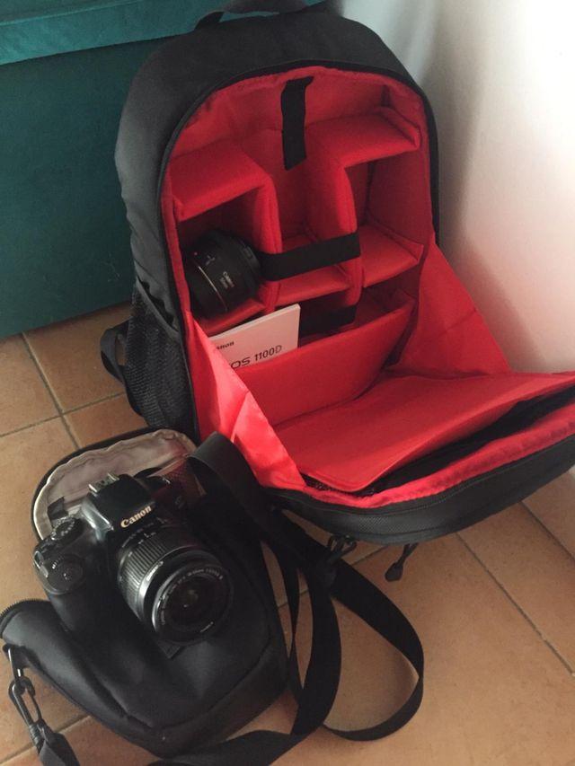 Cámara Canon EOS1100D con objetivo 15-55mm y 50mm