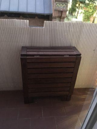 Mesa y 2 sillas jardín balcón Ikea madera