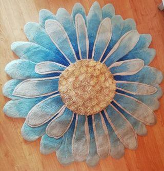 alfombra forma margarita