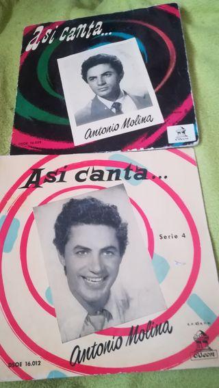 2 antiguos vinilos de Antonio Molina
