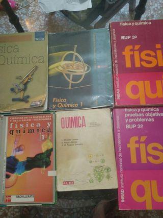 Lote de libros de Física y química