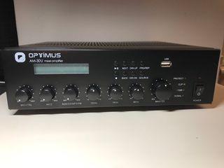 Amplificador Optimus AM-30U TUNE/MP3/USB altavoces