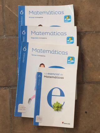 Matemáticas de sexto, 4 libros