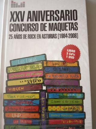 Libro CD concurso de rock en Asturias