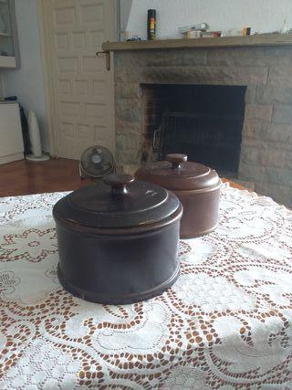 recipientes decorativos madera cerezo