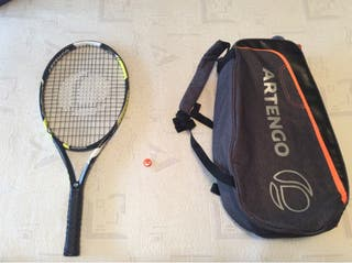Raqueta i bolsa de tenis