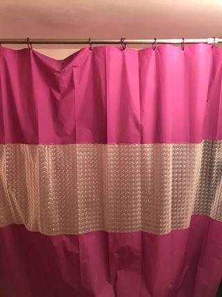 Cortina ducha y barra, bañera , baño