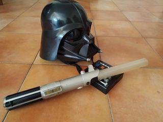 Casco Darth Vader+Laser. Stars Wars