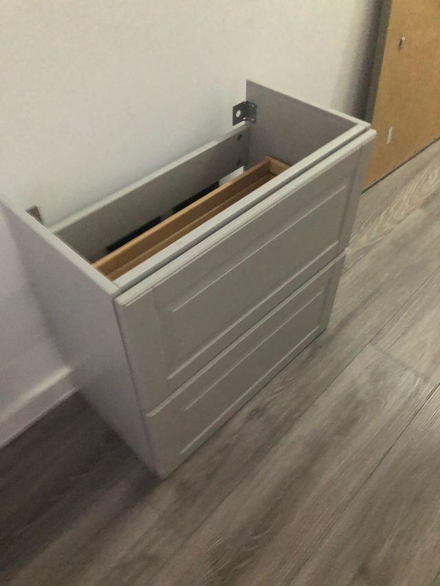 ARMARIO BAÑO IKEA GRIS 60cm