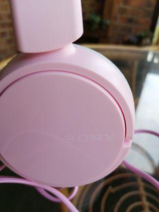 Auriculares Sony rosas