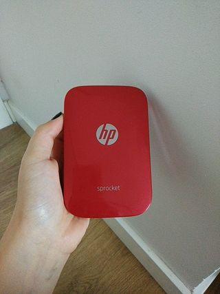 mini impresora HP sprocket roja
