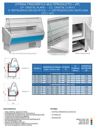 vitrina frigorifica - multiproducto