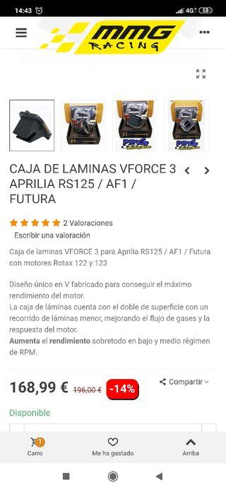 caja de laminas vforce3 Aprilia rs125 /AF1/ Futura