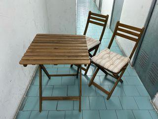 Conjunto de terraza/jardín mesa + sillas
