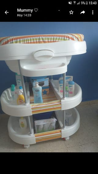 Bañera-mueble bebé.