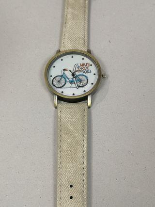 reloj unisex con bicicleta de fondo de pantalla