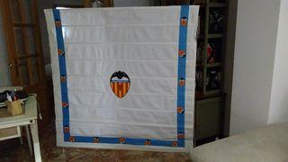 Stor de tela para ventanal, del Valencia c.f